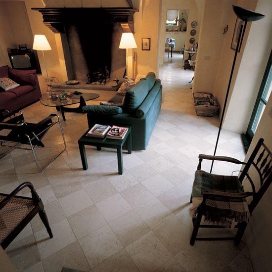 Pavimento in marmo Bianco e Rosa 30,5 x 30,5 cm